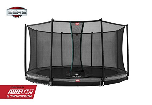 BERG InGround Champion 330 11 ft Trampoline + Safety Net Comfort Grey