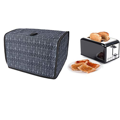 """Toaster Cover, 2 Slice Toasted Bread Machine Dust Cover, Cotton Quilted Two Slice Toaster Appliance Cover, Dust And Fingerprint Protection, Machine Washable, 11.5""""L x8""""W x 8""""H"""