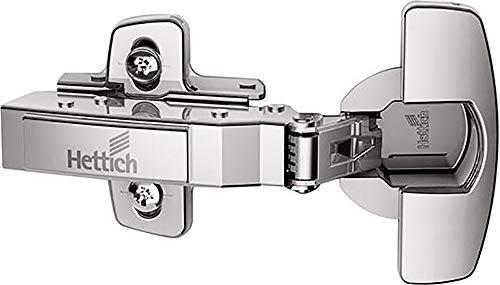 2 Stück (1 Set) Hettich Möbelscharnier Topfscharnier 110° Kröpfung: 0 mm Sensys 8645i # 9073605 Stahl silber vernickelt zum Anschrauben Topf Ø 35mm