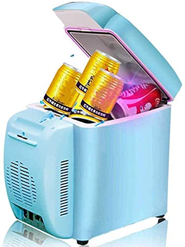 JZTOL Frigorífico Pequeño, Mini Nevera - 7l Blue Compact Refrigerator Holds