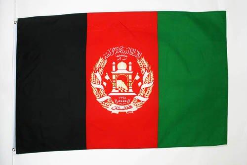 AZ FLAG Flagge Afghanistan 150x90cm - AFGHANISCHE Fahne 90 x 150 cm - flaggen Top Qualität