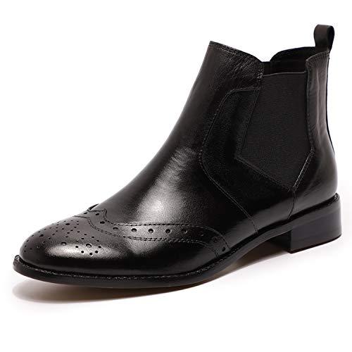 Mona flying Damen Fashion Leder Stiefelette Chelsea Boots