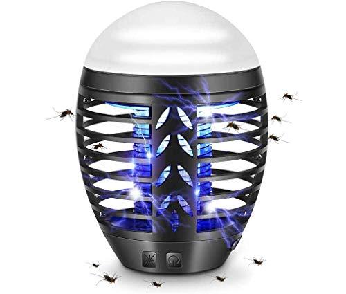 TDW Lámpara Antimosquitos Electrico Exterior, Camping Repelente de Mosquitos, lámpara de Asesino del Mosquito al Aire Libre Portátil 2 en 1 Noche Lámpara LED