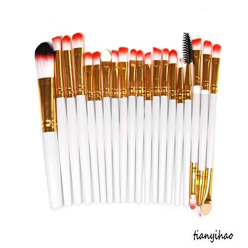 MPKHNM Direct makeup brush eye brush set wooden handle beauty tools white