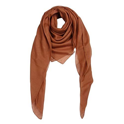 Superfreak Baumwolltuch - Tuch - Schal - 100x100 cm - 100% Baumwolle Farbe braun