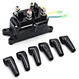 Liadance Winch Relay Atv Winch Kit Electric Winch Solenoid Relay with 6 Protecting Caps for ATV UTV 2000-5000lbs Winch