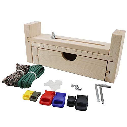 BESTEU Einstellbare Jig Bracelet Maker mit Parachute Cord Wristband Maker Paracord Flechten Weben DIY Craft Tool Kit