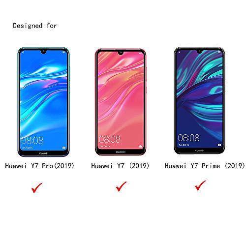 THILIVE Huawei Y7 Pro(2019) Panzerglas, Displayschutzfolie panzerfolie, Folie gehärtetem Glas,9H Härte,Kratzfest,Glasfolie Glas Schutzfolie für Huawei Y7 Pro(2019) (2 Stück)-klare - 2