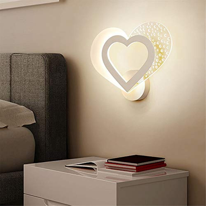Firsthgus Einfache moderne Wandleuchte Schlafzimmer Hochzeit romantische Liebe Ed Nachtwandleuchte, warmes Licht