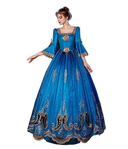 Damen Barock Marie Antoinette 18. Jahrhundert Kleid Viktorianischen Rokoko Inspiration Maiden Kostüm - - Small