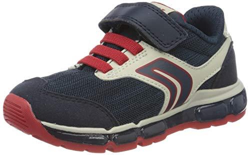 Geox Jungen J Android Boy B Sneaker, Blau (Navy/Red C0735), 34 EU
