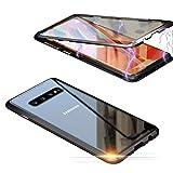 Jonwelsy Funda para Samsung Galaxy S10 Plus, Adsorción Magnética Parachoques de Metal con 360...