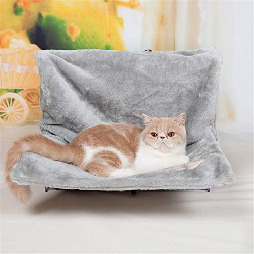 WOCAO Cats Cuddle Bag for Cat Bed Heating - Heating Cozy Sun Deck Mat Cat Sun Cat Hammock - Common for All Radiators,Gray