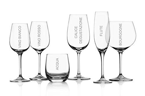 Set 6 Bicchieri Vino Rosso Serie Sonoma