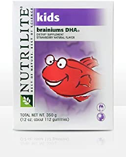 Nutrilite Kids Brainiums DHA Gummy Supplement Strawberry Flavor About 112 Gummies 350 g