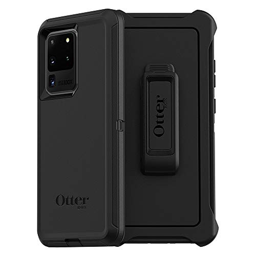 OtterBox DEFENDER SERIES SCREENLESS EDITION Case for Galaxy S20 Ultra/Galaxy S20 Ultra 5G (ONLY - Not compatible with any other Galaxy S20 models) - BLACK