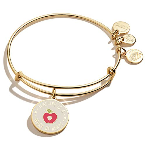 Alex and Ani Color Infusion Teacher Appreciation Shiny Gold One Size (A20EBTHSG)