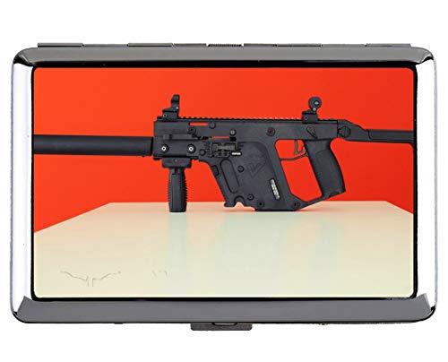 Zigarette Hard Box und Halter, Vector Super V Military Maschinengewehr Edelstahl Kartenhalter