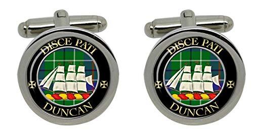 Uglymug Clan écossais Duncan Boutons de manchette pour homme avec blason-Chromé-Coffret cadeau