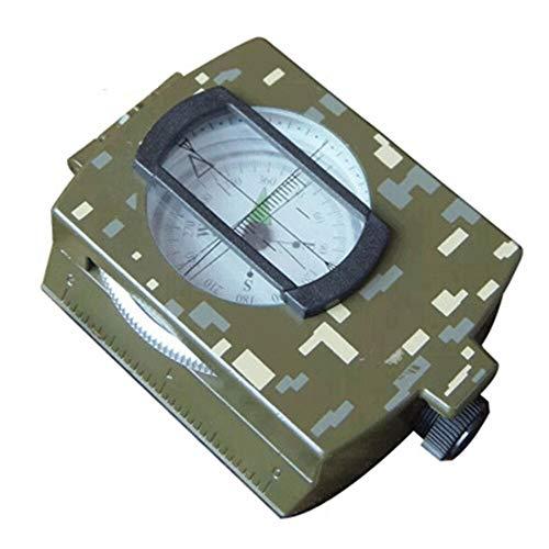 L-MEIQUN, Multifuncional de aleación de Aluminio Militar Brújula con Mapa Medir Distancia Calculadora Grande for IR de excursión Acampar Motor Boating