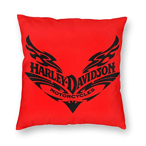 Throw Pillow Cover Cushion Cover Pillow Cases Decorative Linen Harley David-Son for Home Bed Decor Pillowcase,45x45CM