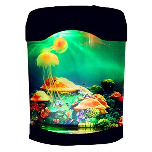 powers Lavalampe Aquarium Lampe Qualle Lampemit Farbwechsel Lichteffekte USB/Batterie Für Heimdekoration, Büro Schreibtischlampe, Schlafzimmer Nachtlicht