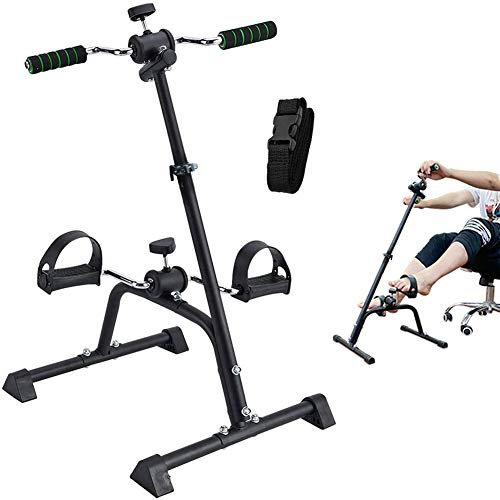 Synteam Compact Mini Exercise Bike Arms and Legs Adjustable Fit Sit Peddler Exerciser for Elderly