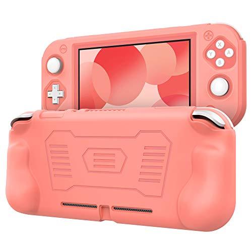 TiMOVO Compatible avec Nintendo Switch Lite Étui, Coque Antidérapante Antichoc en Silicone Souple, Couverture de Protection avec Design Poignée Ergonomique pour Nintendo Switch Lite – Rose