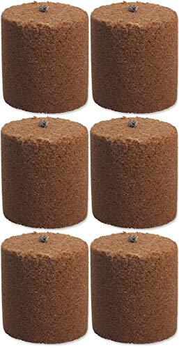 6x Holzspäne Brennelemente für Gartenfackel Feuerschale Feuersäule 8,5cm