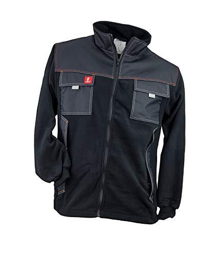 Safety Urgent URG-B Polar Fleecejacke Professionelle Arbeitsjacke schützende fleeceisolierte 300g/m2 Schutzjacke Mantel Taschen Herren Jacke EN340 schwarz (L)