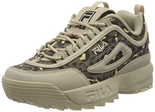 FILA Disruptor N wmn zapatilla Mujer, beige (Feather Gray/Leopard), 38 EU