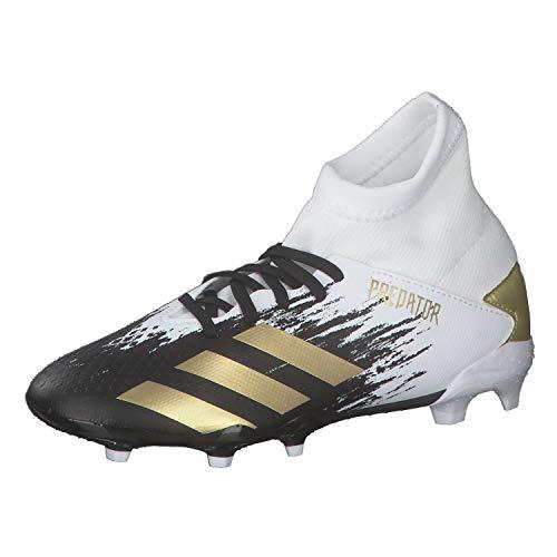 adidas Jungen Predator 20.3 Fg J Fussballschuh, FTWR White Gold Met Core Black, 33.5 EU