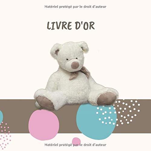 LIVRE D'OR: Un livre d'or, baby shower book, un petit livre de souvenir à faire remplir par les invités 20,9 x 20,9 cm   50 pages   couverture souple mat   intérieur noir &...