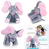 Interaktiver PeekaBoo Elefant Stofftier Spielzeug, Singender Sprechender Plüschelefant Kuscheltier,...