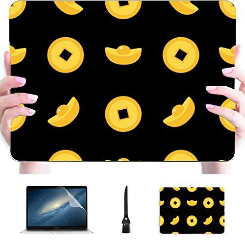 Fall MacBook Air 13 Chinesische Goldbarren Münze Kunststoff Hartschale kompatibel Mac Air 13