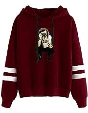 KONLOO mannen en vrouwen Eenvoudige Harry Styles lange mouwen losse casual capuchon pullover, mannen en vrouwen losse hoodie