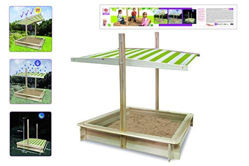 Eichhorn 100004521 zandbak met afdekking, hout natuur