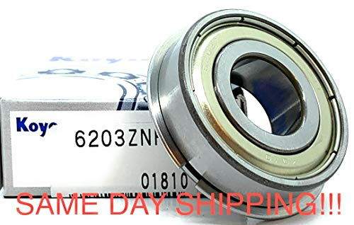 6203 ZZ NR KOYO 6203 ZNR Shielded Bearing with a snap Ring 17x40x12 mm