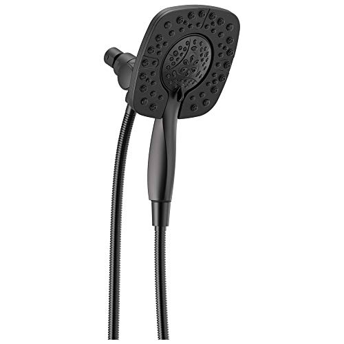 Delta Faucet 58498-BL In2ition Hand Shower Head 1.75 GPM 4-Setting Combo, Matte Black