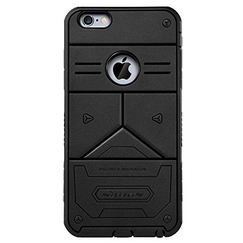 Nillkin Defender III - Custodia PC posteriore rigida di protezione ultra resistente e antiscivolo per iPhone 6 Plus / 6s Plus - Nero