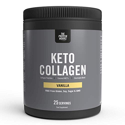 The Protein Works Keto Collagen Protein Powder | Supports Healthy Bones & Joints | Sugar Free | Ketogenic Friendly | Grass-Fed Source | THE PROTEIN WORKS | Vanilla | 325g
