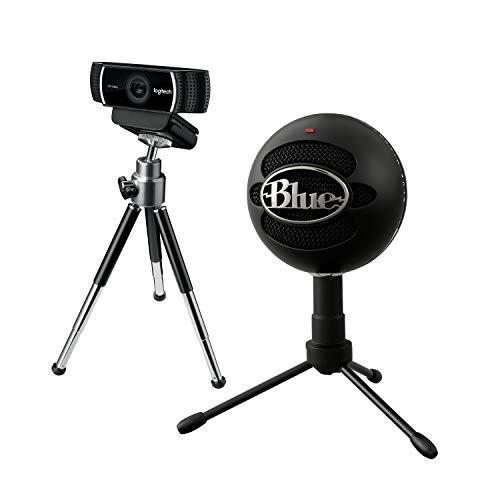 Logitech - Pack des Streamers Professionnels - Microphone USB Blue Yeti+ Webcam Logitech C922 Pro Stream, Diffusion en Full HD 1080p avec Trépied et 3 Mois de Licence X Split Gratuits - Noir