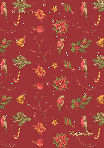 Notizbuch: Tagebuch Weihnachten A5, Planer Weihnachtsfest, Christmas Wunschliste, Notizheft Geschenkeliste