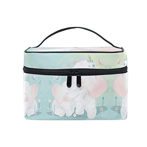 Mignon Bébé Éléphant Mère Sac Cosmétique Organisateur Fermeture à Glissière Sacs Trousse de Maquillage Pochette Cas de Toilette pour Voyage Les Femmes Filles