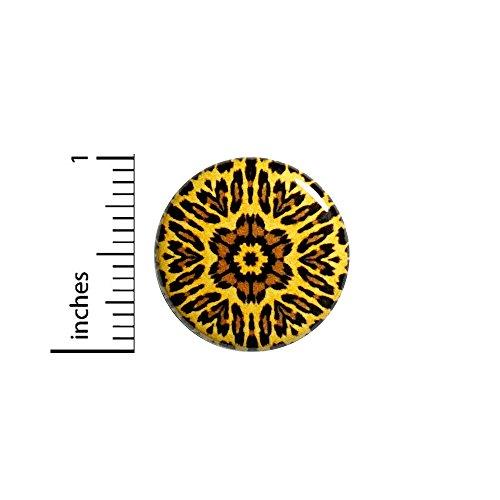 Flower Leopard Button Pin Pretty Cool Rad Animal Print Jacket Pinback 1 Inch 56-22