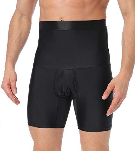 SLIMBELLE Bauchweg Unterhose Herren Figurformende Shapewear Hohe Taille Kompressions Unterwäsche Boxershorts Shaping Brief Taillenmieder Body Shaper für Männer Wieß o. Schwarz