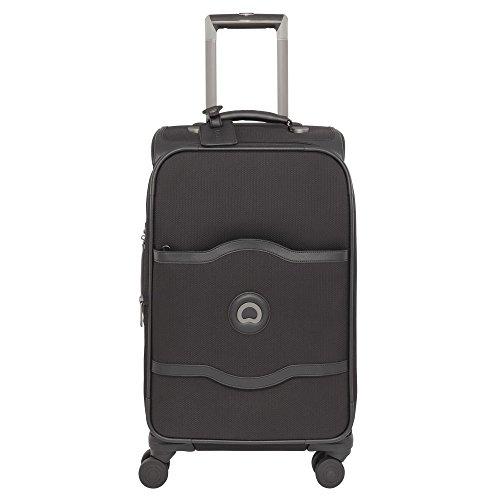 Delsey Chatelet Soft valigia da cabina a 4 ruote 55 cm nero