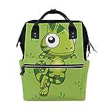 LDIYEU Insecto Dinosaurio Casual Verde Bolsa Compra Reutilizables Bolsas de Mano para Trabajo Escuela Comestibles Plegables de Playa para Mujeres Niñas