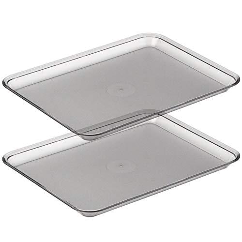 Graef 0000011 Tablett für Allesschneider, Kunststoff, 18 x 24 cm, transparent (2er Pack)