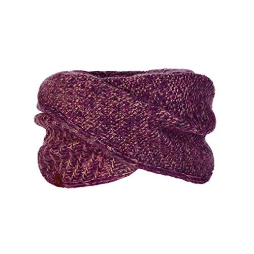 Buff Agna Schal Wrap tricoté Femme Violette FR : Taille Unique (Taille Fabricant : Taille One sizeque)